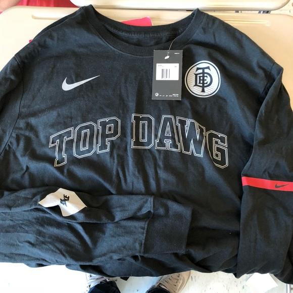 0102cb40 Nike Shirts | Top Dawg Ent X Collab Black Long Sleeve | Poshmark